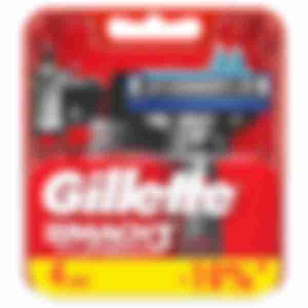 Gillette Сменные кассеты для бритвенного станка Mach3 Turbo N4