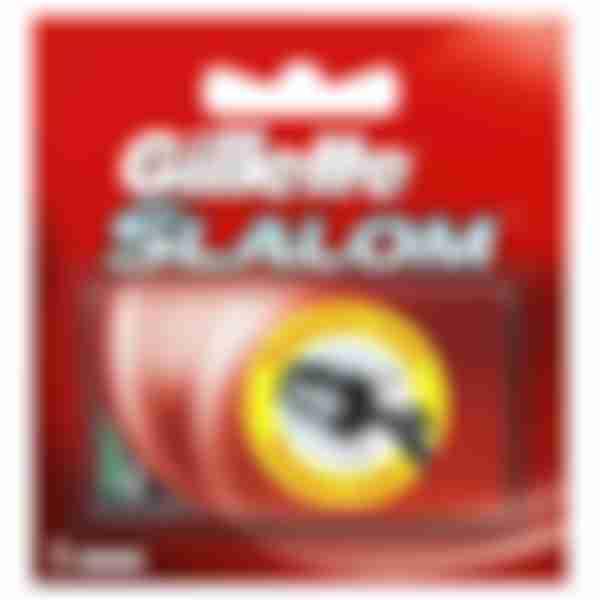 Gillette Сменные кассеты для бритвенного станка Slalom (красные) N5