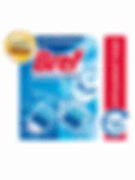 Туалетный блок Bref Duo-Cubes, Формула 2-в-1, Синяя вода, 50г