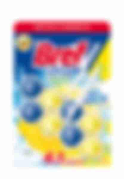 Туалетный блок Bref Сила-Актив, Лимонная свежесть, 2х50г