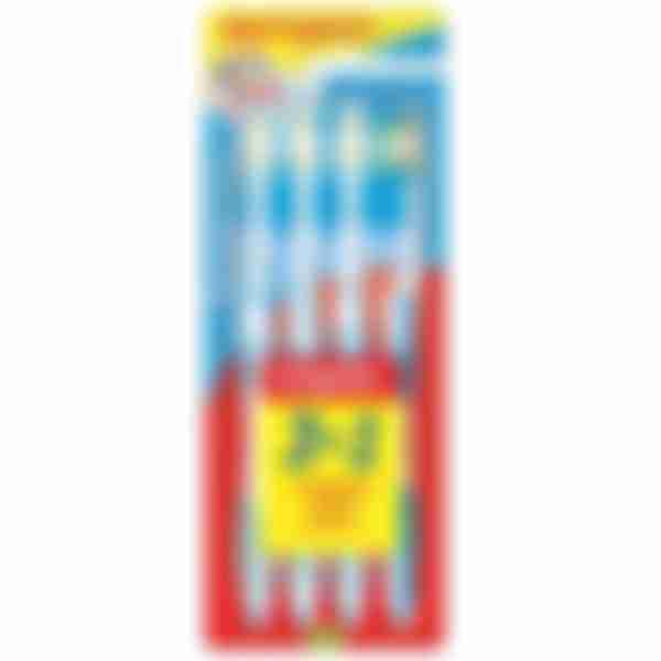 COLGATE Эксперт Чистоты многофункциональная зубная щетка 3шт + 1в подарок, средней жесткости