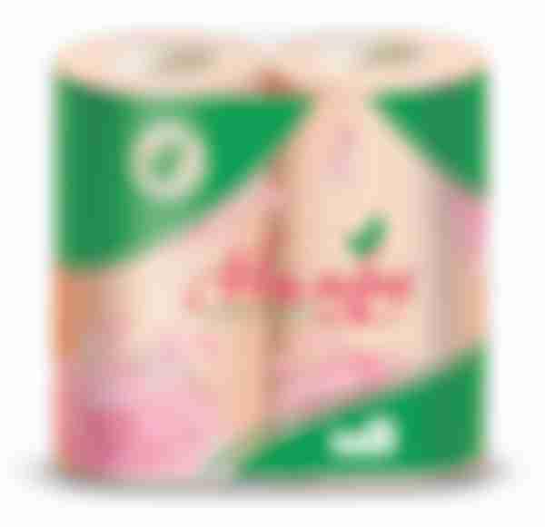 Туалетная бумага Нимфа Персик, 4 рулона, 2 слоя