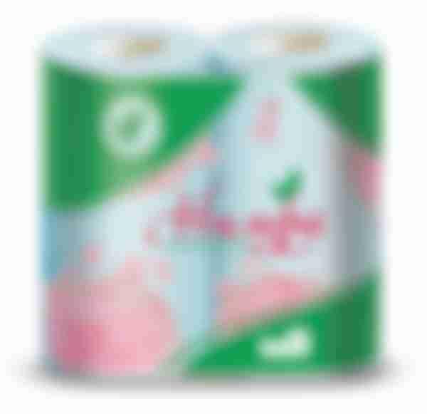 Туалетная бумага Нимфа Голубая, 4 рулона, 2 слоя