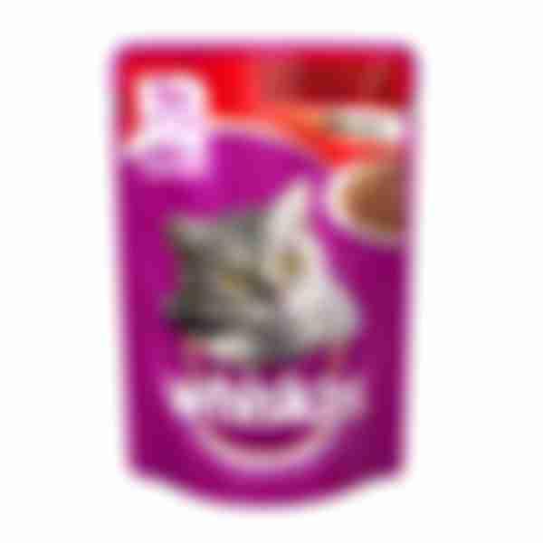 Whiskas влажный корм для кошек Говядина/Ягненок в желе 85г