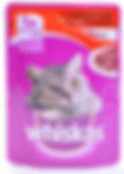 Whiskas влажный корм для кошек Говядина/Ягненок рагу 85г