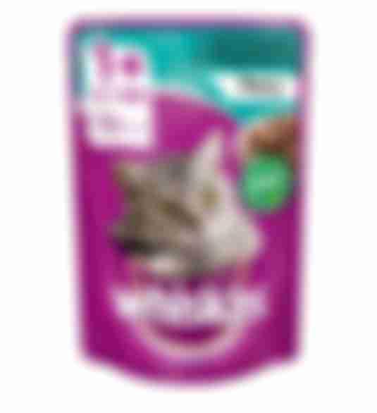 Whiskas влажный корм для кошек Кролик/Индейка рагу 85г