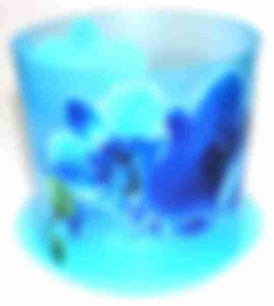 Кашпо МП Деко 2.4л 160мм Орхидея голуб. М3106