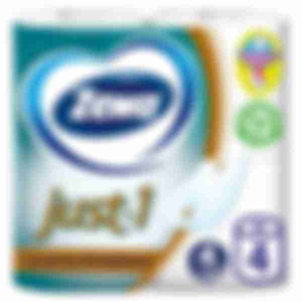 Туалетная бумага Zewa Just, 4 рулона, 4 слоя