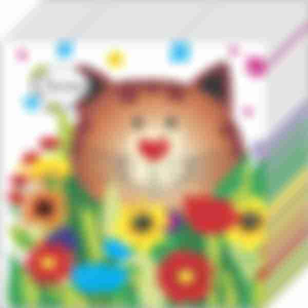 Бумажные салфетки Desna 1сл 25*25 Чеширский кот 40шт