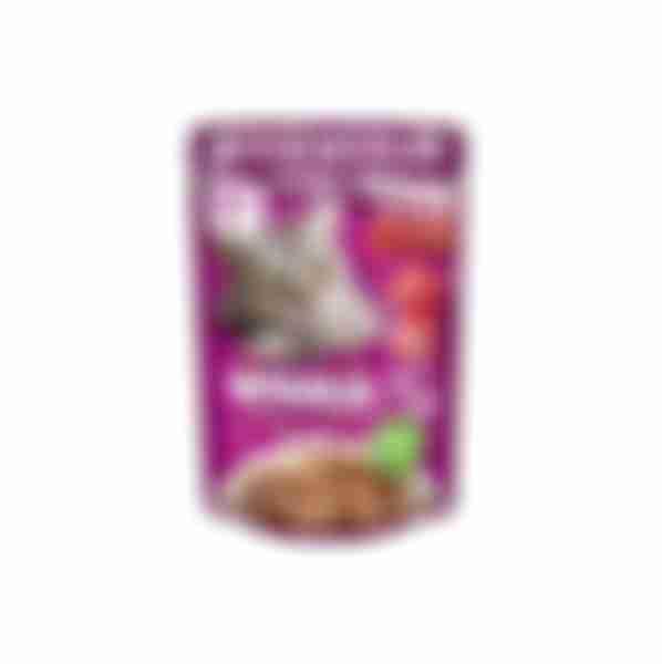 Whiskas влажный корм для кошек Говядина/Ягнёнок в соусе 85г