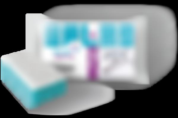 Губка для посуды Белая кветка Морской бризс фиброполимером, 100*70*35мм, 5шт