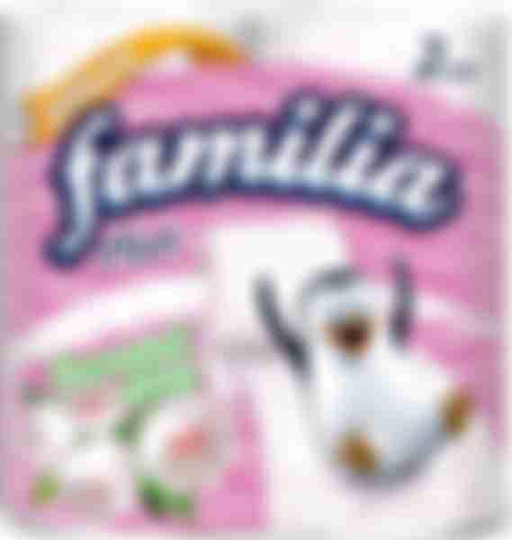 Туалетная бумага Hayat Familia Plus весенний цвет 2 слоя 4шт
