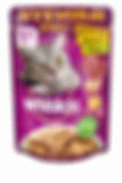Whiskas влаж. корм для кошек микс сл.соус кур/утк. 85г