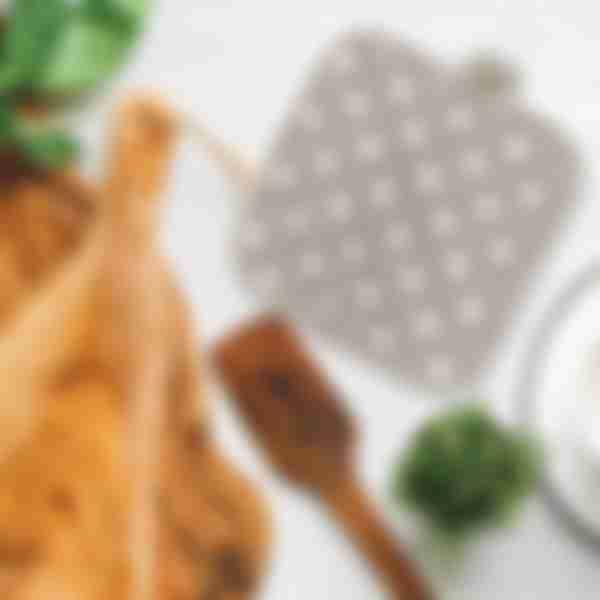 Прихватка кухонная 18х18см, рогожка, иллюзия-горох